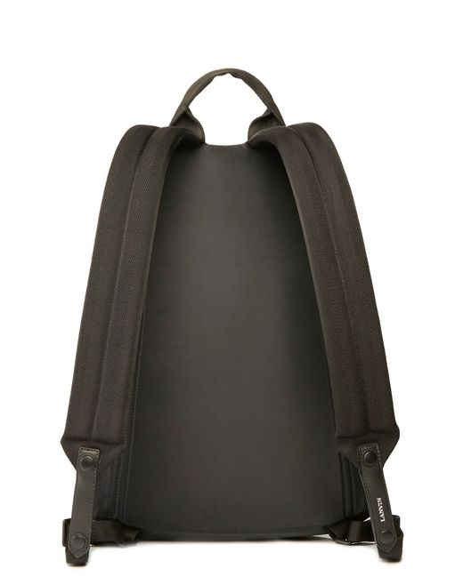 lanvin rubber calfskin zippered backpack men