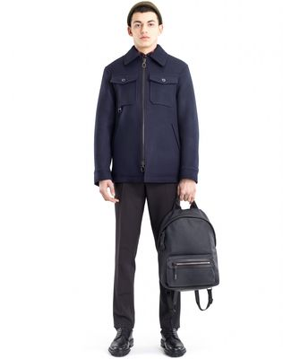 LANVIN RUBBER CALFSKIN ZIPPED BACKPACK Backpack U e