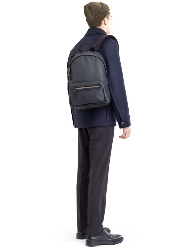 LANVIN RUBBER CALFSKIN ZIPPED BACKPACK Backpack U a