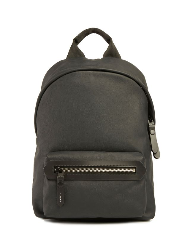LANVIN RUBBER CALFSKIN ZIPPED BACKPACK Backpack U f