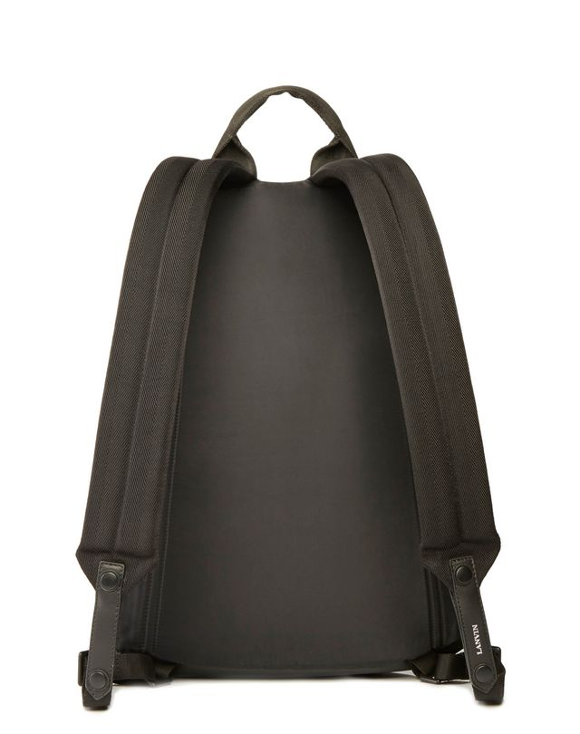 LANVIN RUBBER CALFSKIN ZIPPERED BACKPACK Backpack U r