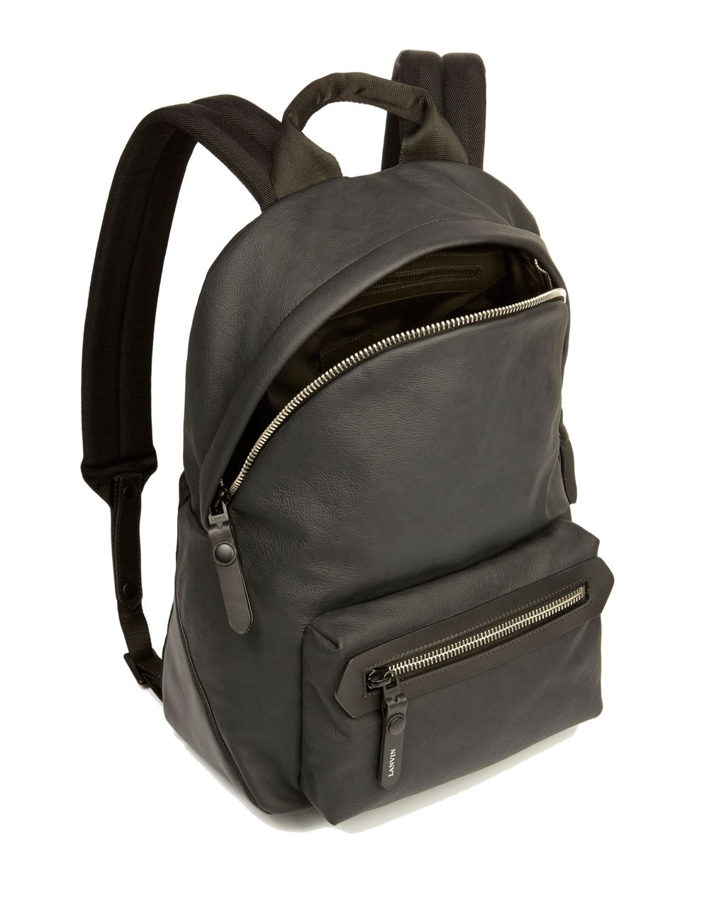 RUBBER CALFSKIN ZIPPED BACKPACK - Lanvin