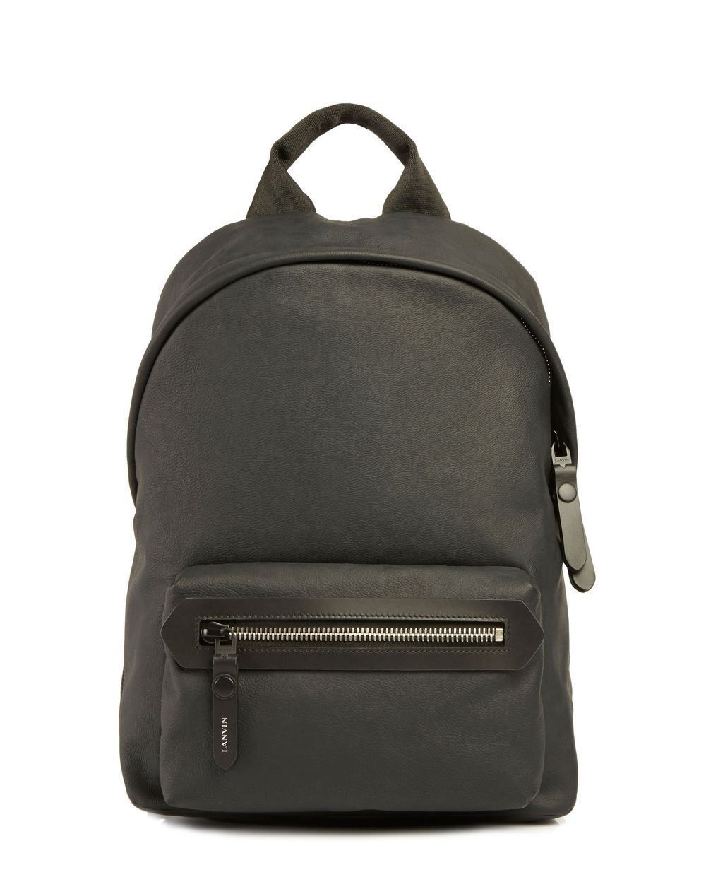 RUBBER CALFSKIN ZIPPERED BACKPACK - Lanvin