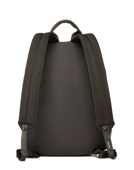 lanvin nylon zippered backpack men