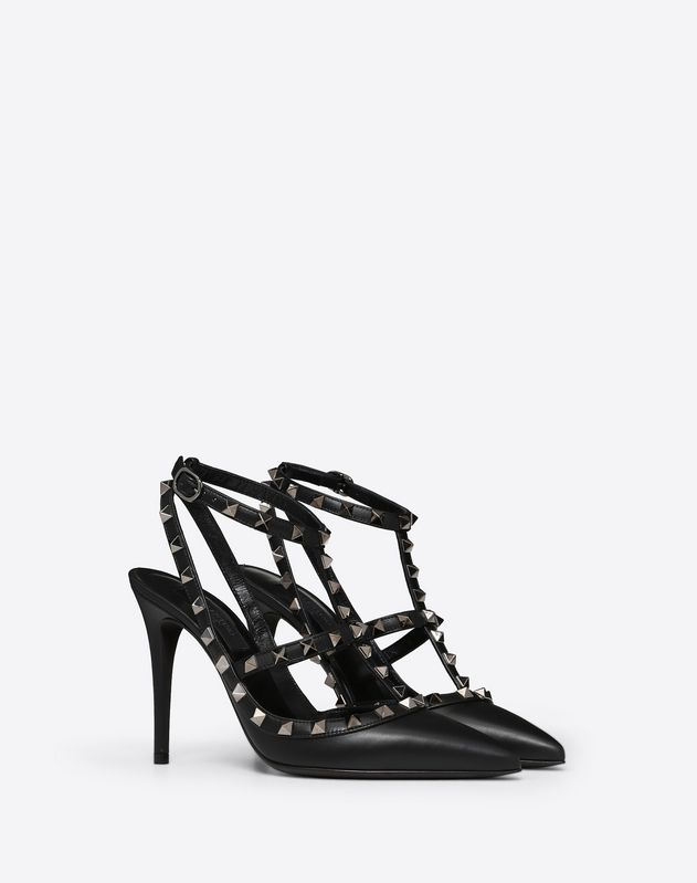 Rockstud Noir caged Pump 100mm
