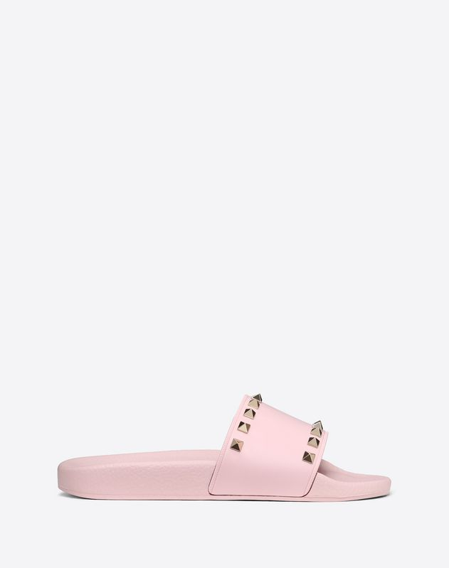 Rockstud Slide Sandal in rubber