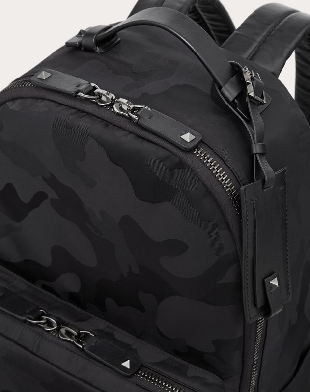 NYLON NOIR CAMOUFLAGE BACKPACK