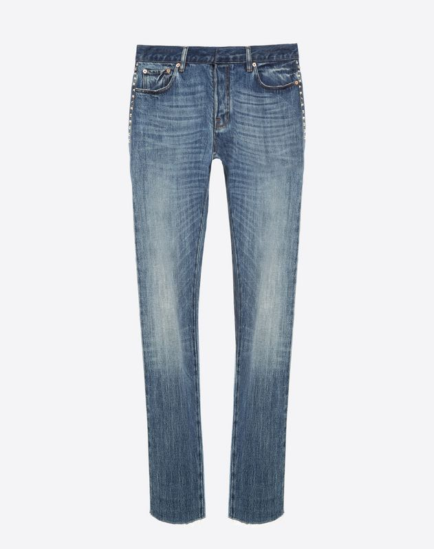 5-Pocket-Hose Rockstud Untitled aus Denimstoff