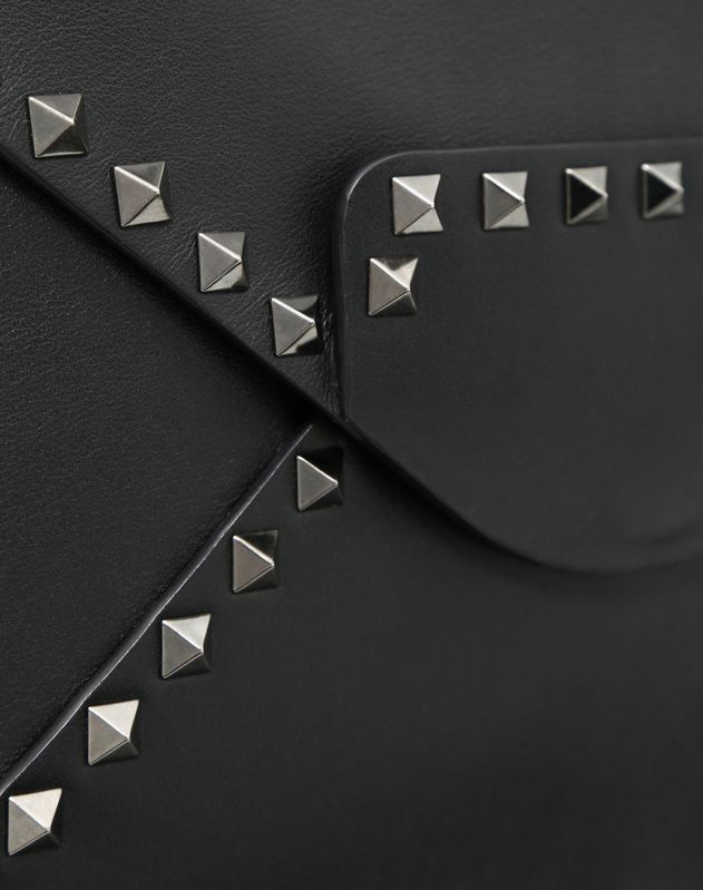 Rockstud Untitled Noir Clutch
