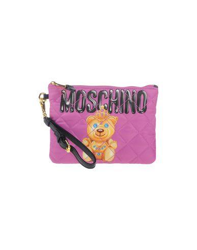 MOSCHINO レディース ハンドバッグ ライトパープル 紡績繊維