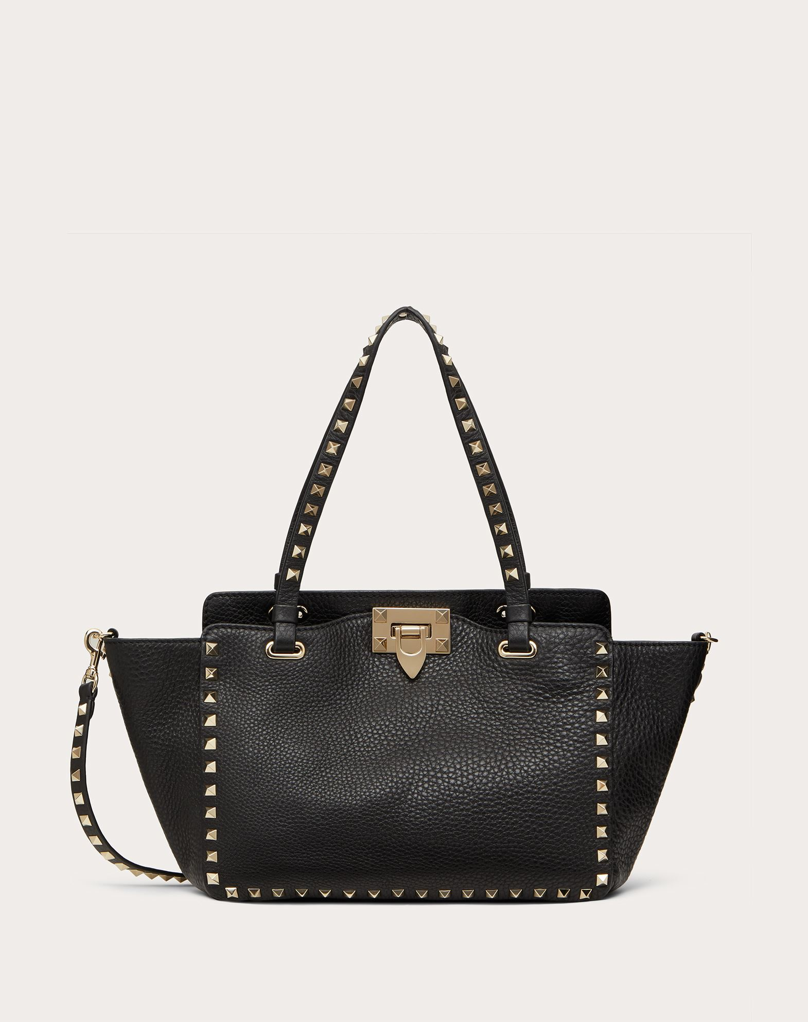 Small grain calfskin leather Rockstud bag