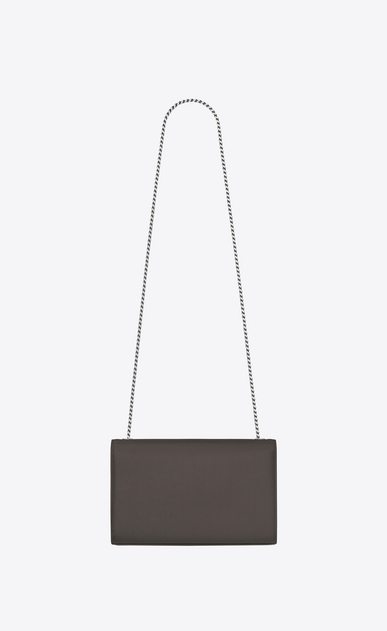 SAINT LAURENT MONOGRAM KATE Woman medium kate chain bag in Grey Grain de Poudre Textured Leather b_V4
