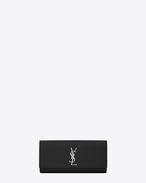 SAINT LAURENT MONOGRAM KATE CLUTCH D CLASSIC KATE Clutch in Black Grain de Poudre Textured Leather f