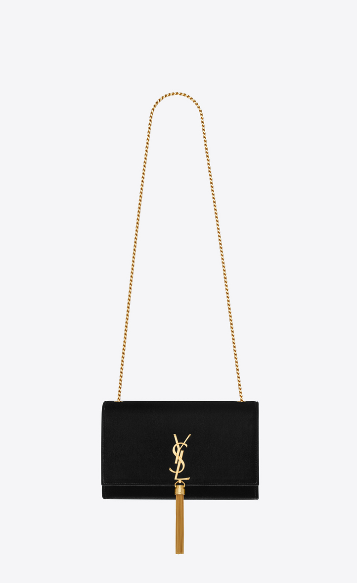 kate medium with tassel in velvet. Description and details. classic monogram  saint laurent gourmette chain shoulder bag with interlocking metal ysl ... a4c435b884610