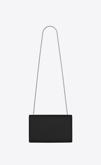 SAINT LAURENT MONOGRAM KATE D medium kate chain bag in Black Grain de Poudre Textured Leather b_V4