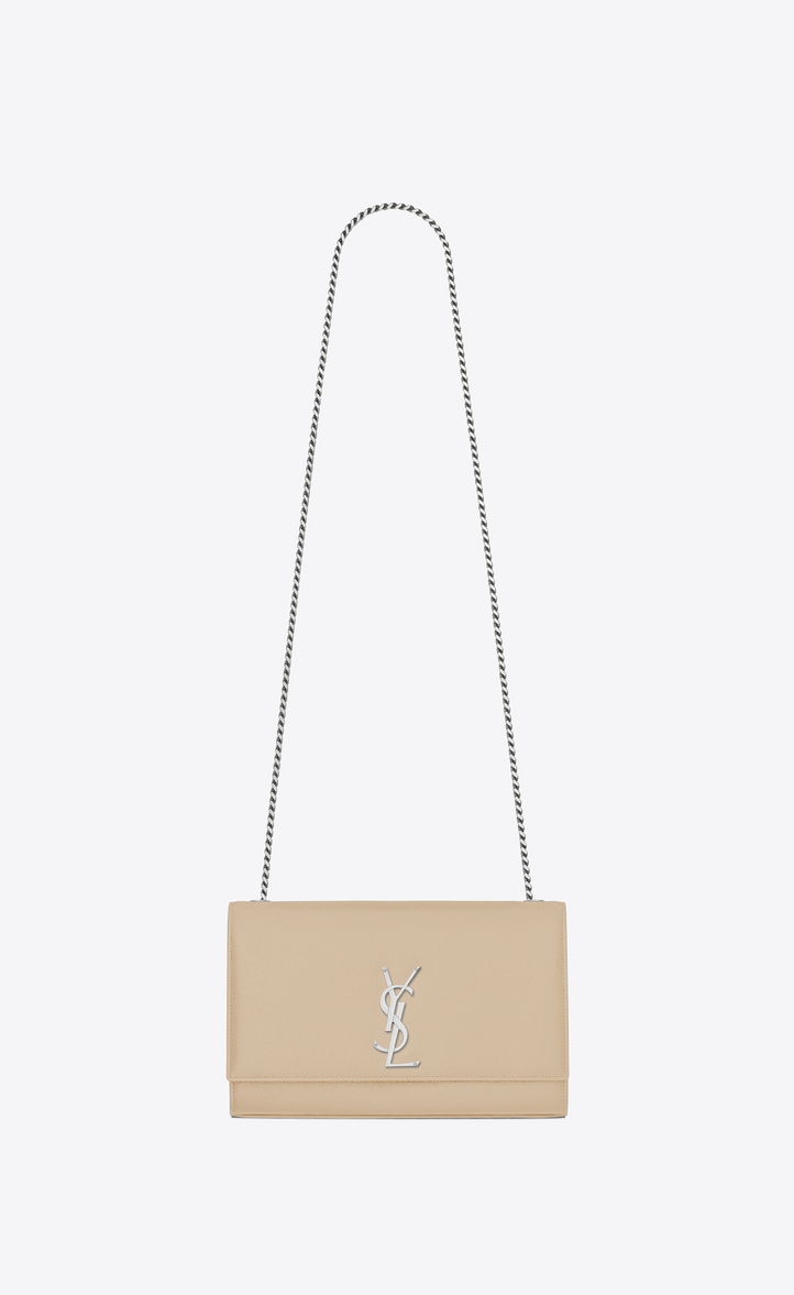 ccaff95f4979 Saint Laurent Medium Kate Chain Bag In Powder Textured Leather ...
