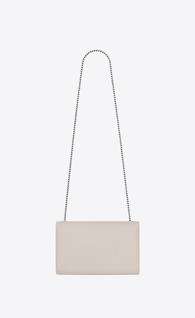 SAINT LAURENT MONOGRAM KATE D medium kate chain bag in Icy White Grain de Poudre Textured Leather b_V4