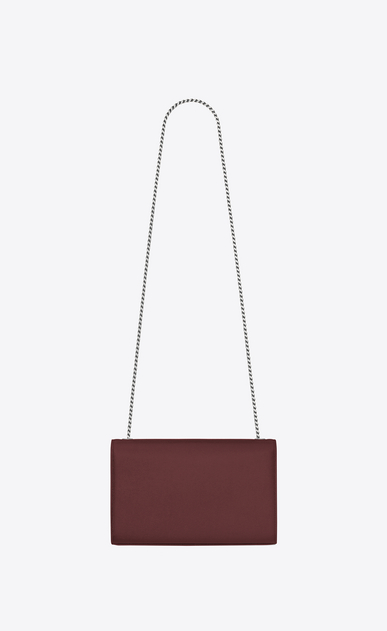 SAINT LAURENT MONOGRAM KATE Woman medium kate chain bag in Dark Red Grain de Poudre Textured Leather b_V4