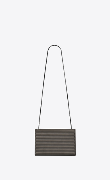 SAINT LAURENT MONOGRAM KATE D satchel medium kate en cuir et cuir côtelé anthracite b_V4