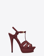 SAINT LAURENT Tribute D Sandale TRIBUTE 105 en cuir verni bordeaux clair f