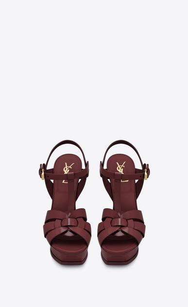 SAINT LAURENT Tribute D Classic TRIBUTE 105 Sandal in Light Burgundy Patent Leather b_V4