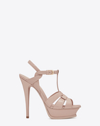 SAINT LAURENT Tribute D Sandale TRIBUTE 105 en cuir verni rose clair f