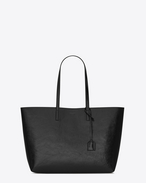 SAINT LAURENT Shopping Saint Laurent E/W D SHOPPING SAINT LAURENT Tote Bag in Black Patent Leather f