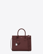 SAINT LAURENT Baby Sac de Jour D Baby SAC DE JOUR Bag color rosso scuro in coccodrillo stampato lucido f