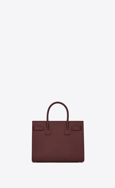 SAINT LAURENT Baby Sac de Jour D classic Baby SAC DE JOUR Bag in Dark Red Crocodile Embossed Shiny Leather b_V4