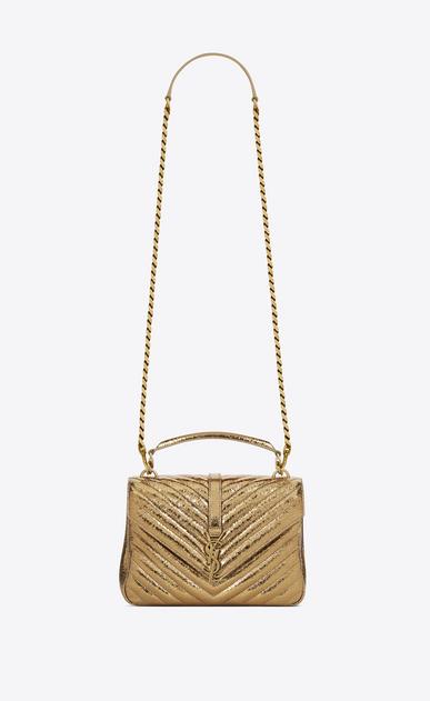 SAINT LAURENT Monogram College D classic medium collège bag in Bronze Cracked Metallic Leather a_V4
