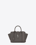 SAINT LAURENT MONOGRAMME TOTE D Baby DOWNTOWN Cabas YSL Bag in Grey Leather and Crocodile Embossed Leather f