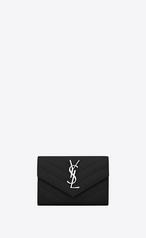 bf758cdd1577b kleines-saint-laurent-umschlag-portemonnaie-aus-schwarzem-matelassé-