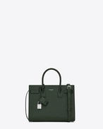SAINT LAURENT Baby Sac de Jour D Baby SAC DE JOUR Bag color verde scuro in coccodrillo stampato lucido f