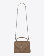 SAINT LAURENT Monogram College diamond D classic medium collège bag in Taupe Diamond Matelassé Leather f