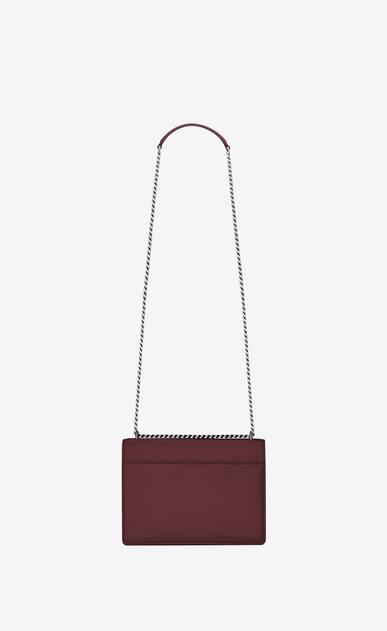 SAINT LAURENT Sunset Femme Sac medium SUNSET en cuir rouge foncé b_V4