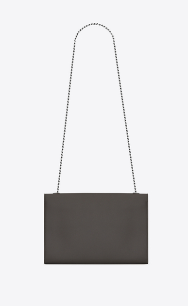 SAINT LAURENT MONOGRAM KATE D Classic Large KATE chain bag in Grey Grain de Poudre Textured Leather b_V4