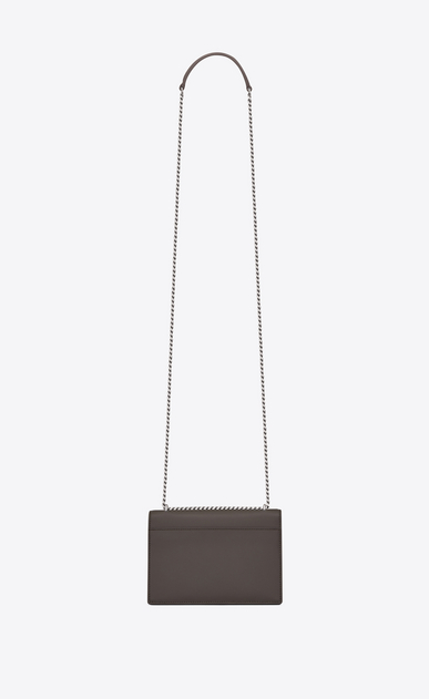 SAINT LAURENT Mini sacs Sunset Femme Portefeuille à chaîne SUNSET en cuir gris earth b_V4