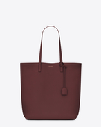 SAINT LAURENT Shopping Saint Laurent E/W D Medium Shopping SAINT LAURENT Tote Bag in Dark Red Leather f
