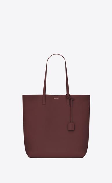 SAINT LAURENT Shopping Saint Laurent E/W D Shopping SAINT LAURENT Tote Bag in Dark Red Leather v4