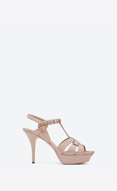 SAINT LAURENT Tribute D Classic TRIBUTE 75 Sandal in Light Pink Patent Leather a_V4
