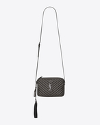 SAINT LAURENT Camera bag D Small LOU Camera Bag in Anthracite Matelassé Metallic Leather f