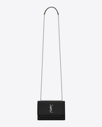 SAINT LAURENT Sunset D SUNSET Chain Wallet in Black Leather f