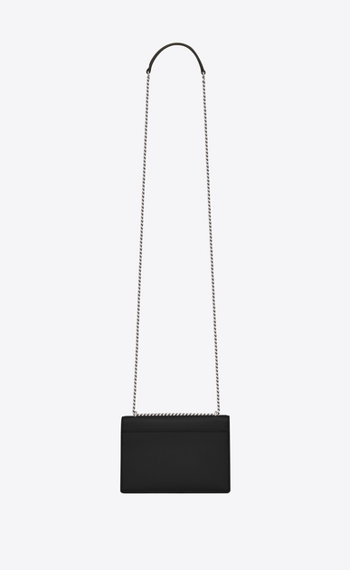 SAINT LAURENT Mini bags sunset Woman SUNSET Chain Wallet in Black Leather b_V4