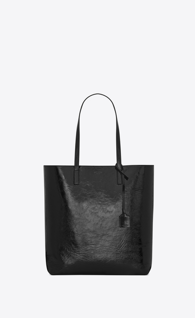 SAINT LAURENT Shopper Saint Laurent N/S Damen mittlere saint laurent shopper-totebag aus schwarzem lackleder a_V4