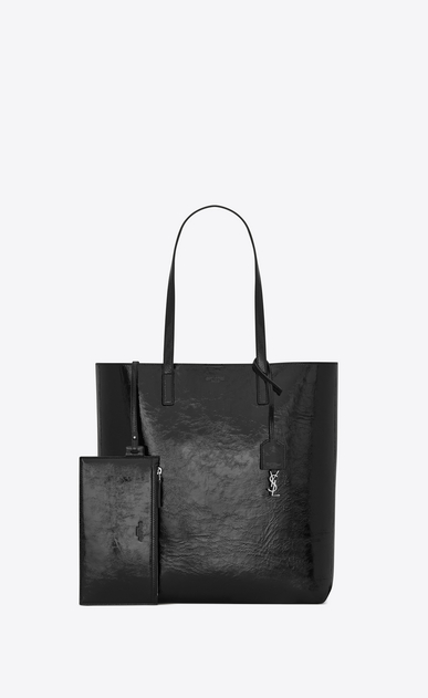 SAINT LAURENT Shopper Saint Laurent N/S Damen mittlere saint laurent shopper-totebag aus schwarzem lackleder b_V4