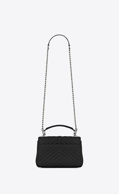 SAINT LAURENT Monogram College D classic medium collège bag in Black Matelassé Leather b_V4