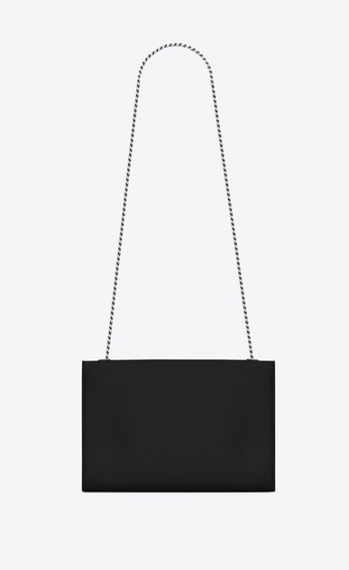 SAINT LAURENT MONOGRAM KATE D Classic Large KATE chain bag in Black Grain de Poudre Textured Leather b_V4