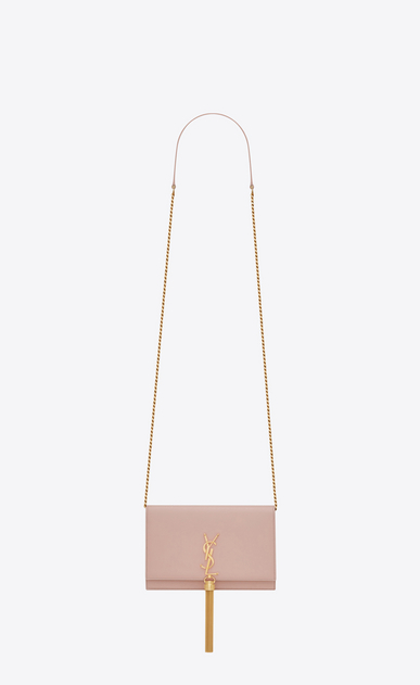 SAINT LAURENT MONOGRAM KATE WITH TASSEL D KATE Tassel Chain Wallet in Pale Blush Leather a_V4