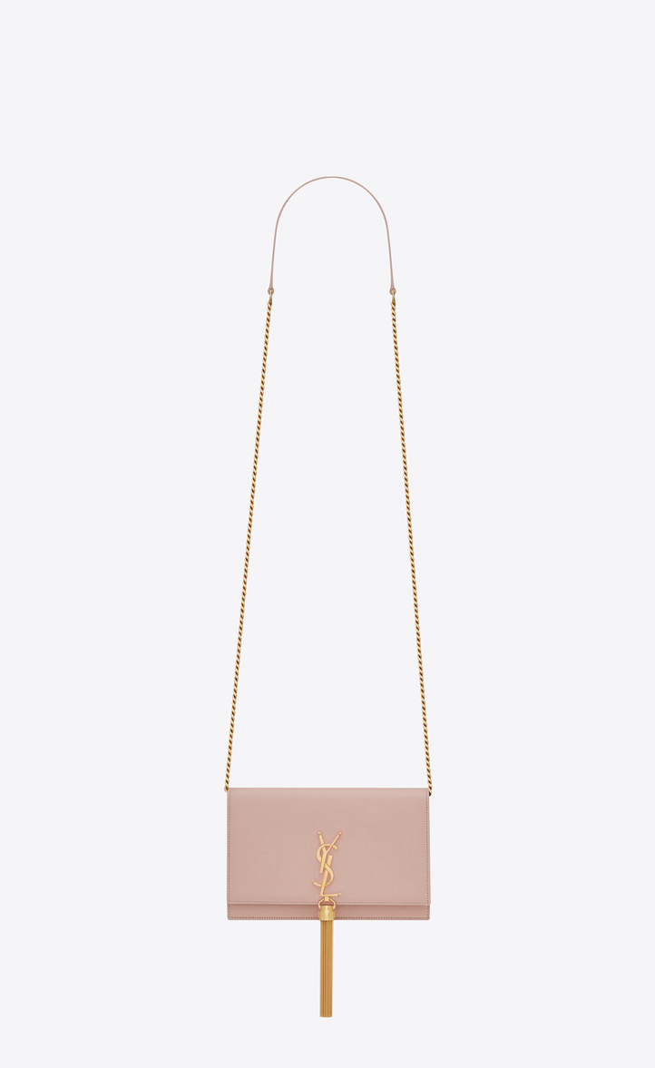 Saint Laurent Kate Chain Wallet With Tassel In Smooth Leather ... a8346d7a2189a