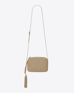 SAINT LAURENT Camera bag D Petit sac camera LOU en cuir beige foncé f